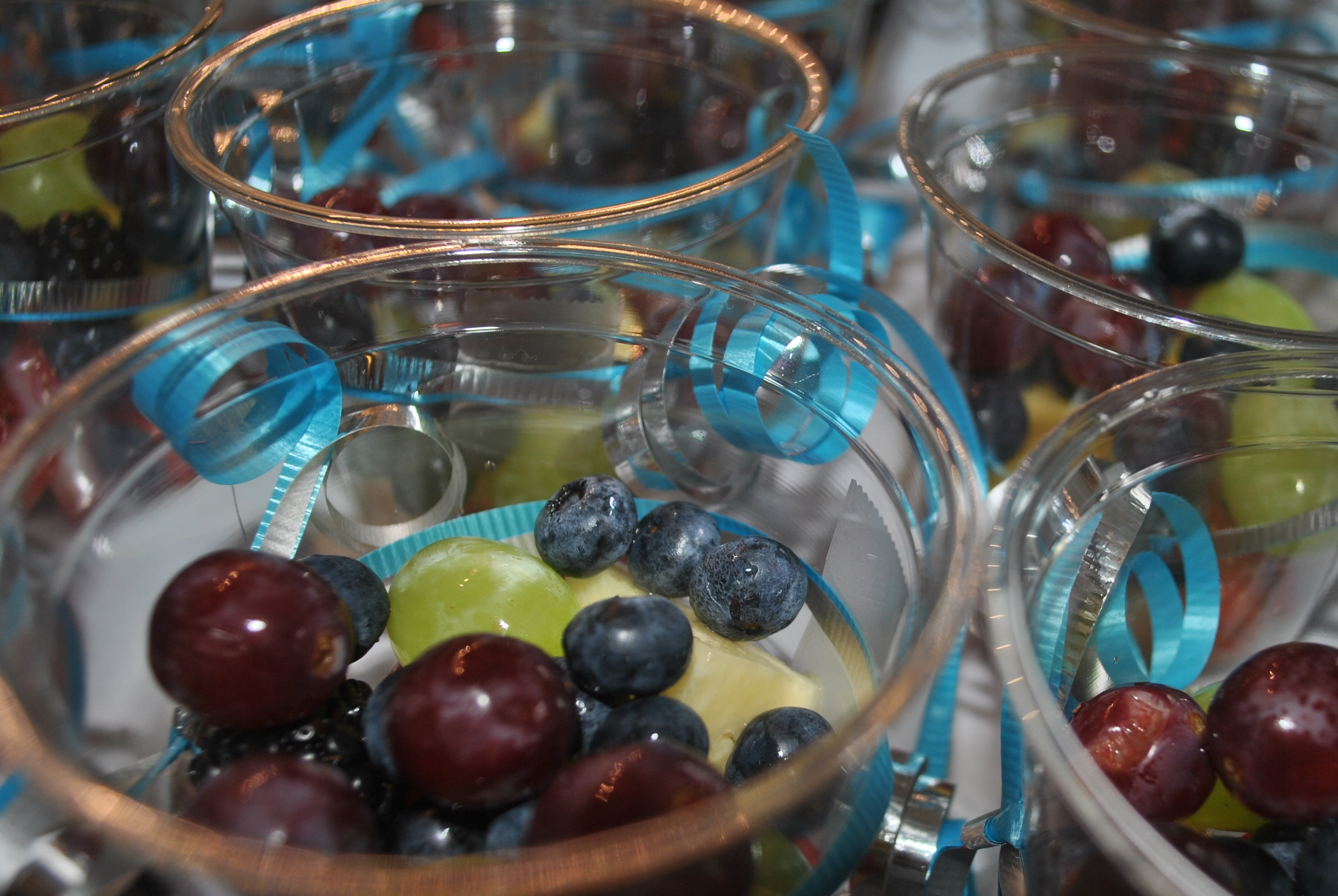 Fruit Cups and Curling Ribbon