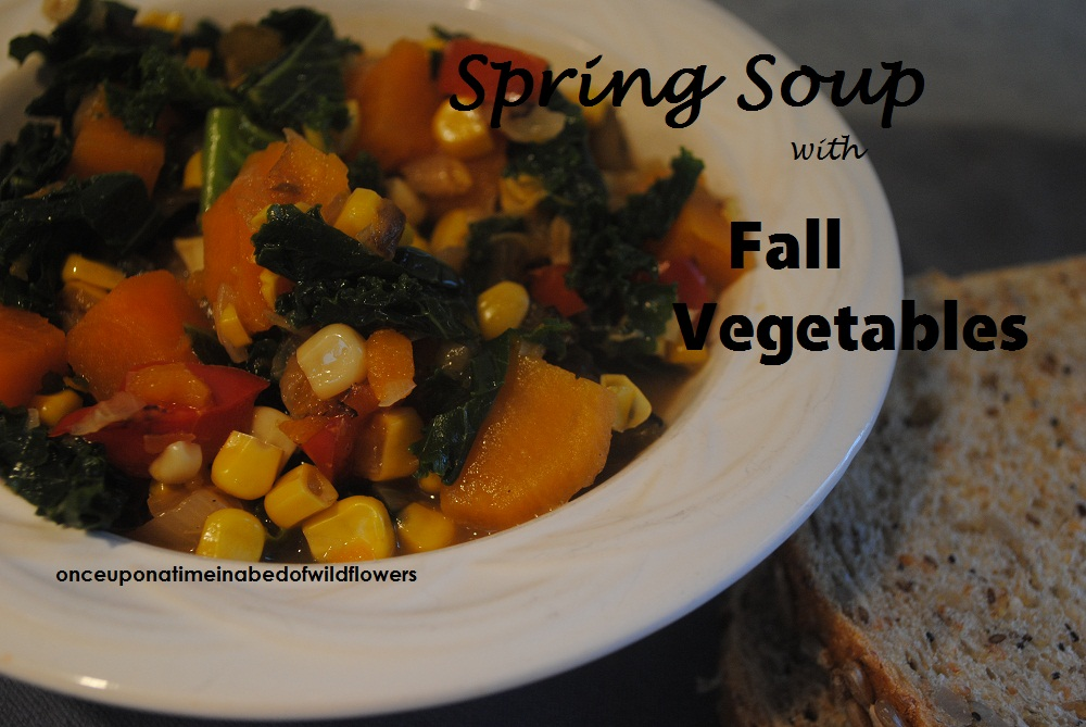 Spring Soup with Fall Vegetables |onceuponatimeinabedofwildflowers