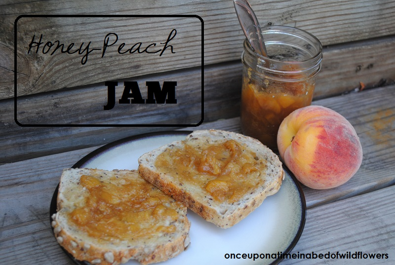Honey-Peach Jam | onceuponatimeinabedofwildflowers