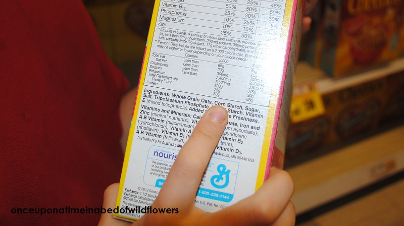 Yes, that is a Cheerios box, complete with corn starch and sugar on the ingredients list.