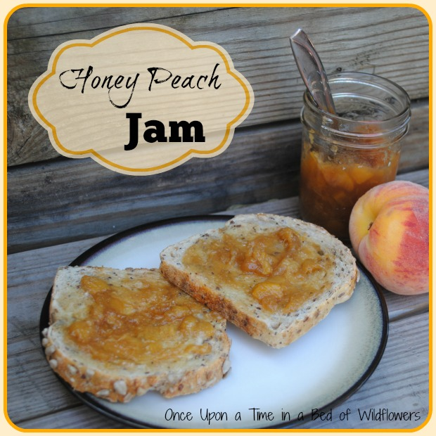 Honey Peach Jam with Pomona's Pectin // Once Upon a Time in a Bed of Wildflowers
