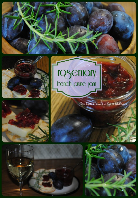 Rosemary and French Prunes blend exotically together into this little jam which makes a fabulous treat when served with a cheese tray. Via Once Upon a Time in a Bed of Wildflowers