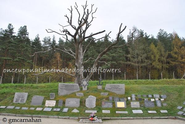"""Memorial at a Nazi """"work"""" camp, Gross Rosen"""