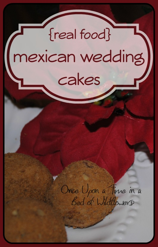 Real Food Christmas Cookies: Mexican Wedding Cakes // Once Upon a Time in a Bed of Wildflowers