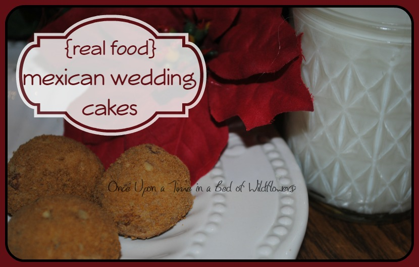 Real Food Christmas Cookies:  Mexican Wedding cakes //Once Upon a Time in a Bed of Wildflowers