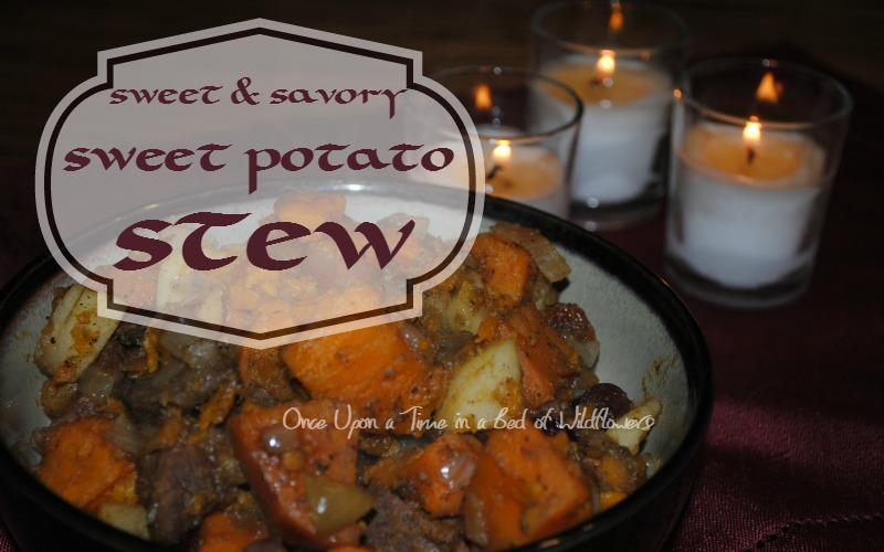 Sweet and Savory Sweet Potato Stew for Yuletide and other cold evenings // Once Upon a Time in a Bed of Wildflowers