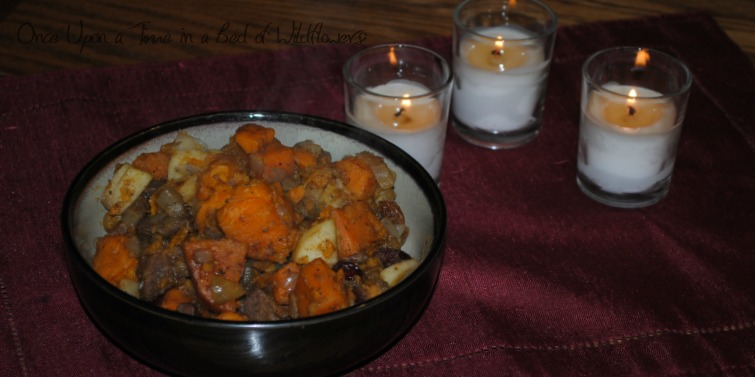 Sweet & Savory Sweet Potato Stew via Once Upon a Time in a Bed of Wildflowers