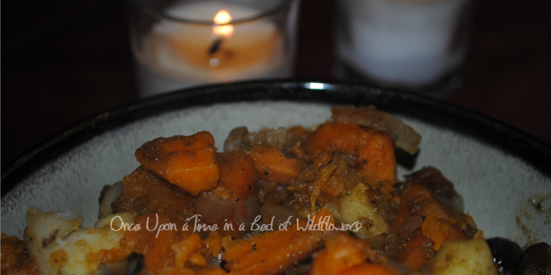 Sweet and Savory Sweet Potato Stew // Once Upon a Time in a Bed of Wildflowers