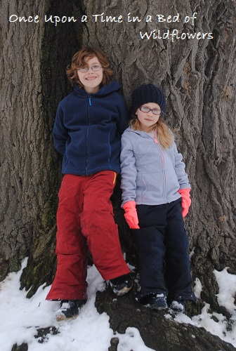 Kids and Oak Tree