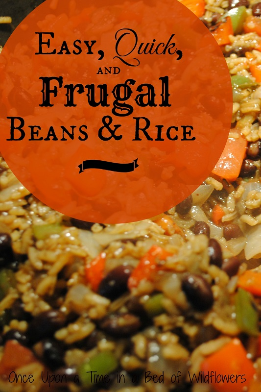 Need a last minute dinner? Try Easy, Quick, and Frugal Beans & Rice from Once Upon a Time in a Bed of Wildflowers