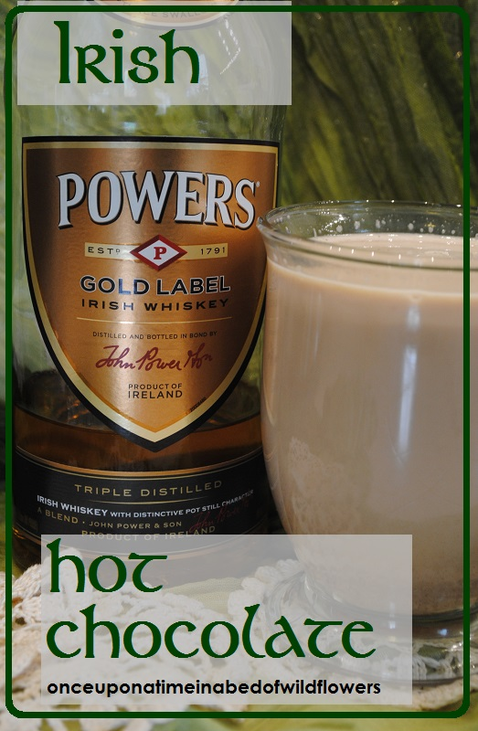 Irish Hot Chocolate -- Hot Chocolate with a wee touch 'o Irish Cheer! | Once Upon a Time in a Bed of Wildflowers