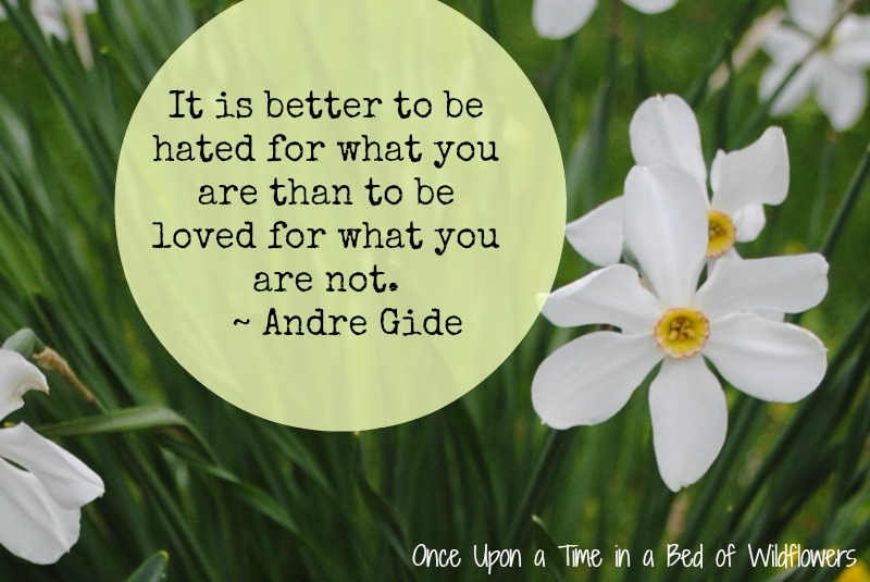 Andre Gide quote from Once Upon a Time in a Bed of Wildflowers
