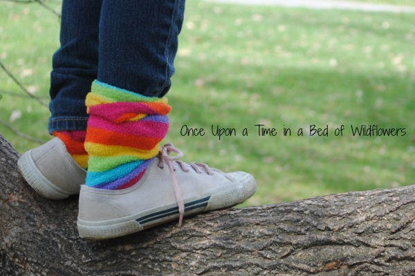 Rainbow Socks // Once Upon a Time in a Bed of Wildflowers