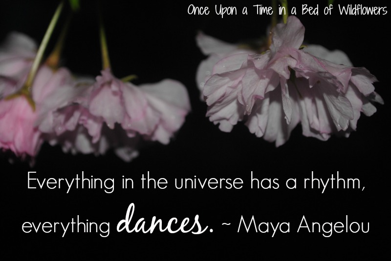 Maya Angelou quote // Once Upon a Time in a Bed of Wildflowers