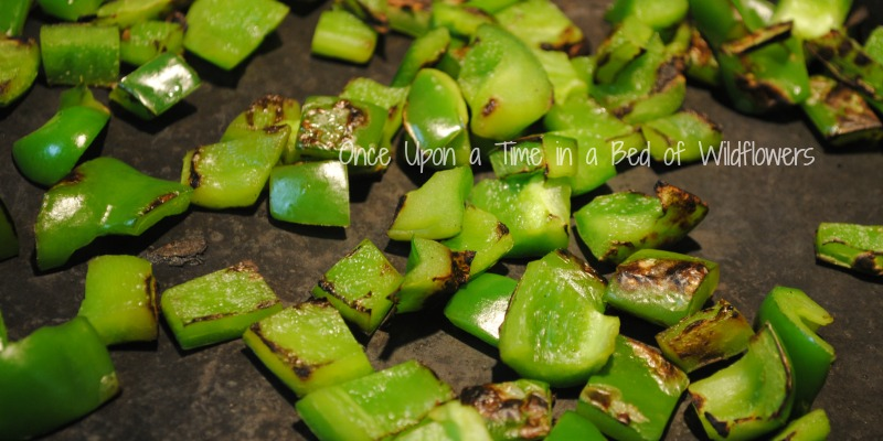 Cook peppers in a dry pan // Once Upon a Time in a Bed of Wildflowers