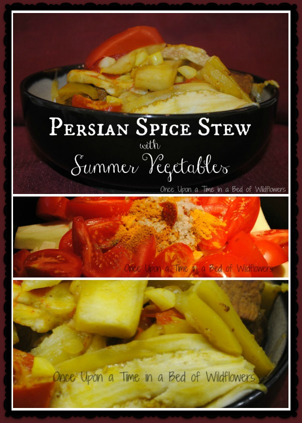 Looking for a new dish to help use up all that zucchini? Try Persian Spice Stew with Summer Vegetables from Once Upon a Time in a Bed of Wildflowers