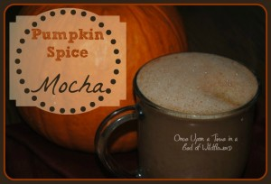 Looking for Hot Chocolate with a wake-you-up kick? Try Pumpkin Spice Mocha from Once Upon a Time in a Bed of Wildflowers