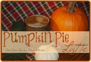 Pumpkin Pie Latte or Fall Decadence in a Cup via Once Upon a Time in a Bed of Wildflowers