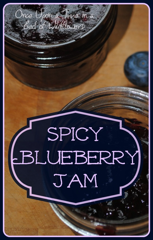 If you're looking to spice up your blueberry jam, try this recipe from Once Upon a Time in a Bed of Wildflowers