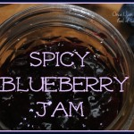Spicy Blueberry Jam via Once Upon a Time in a Bed of Wildflowers