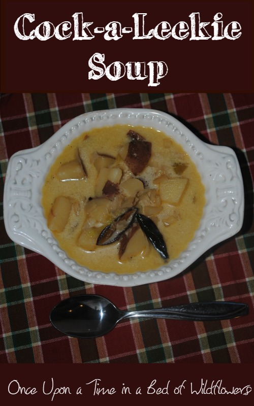 Perfect nourishing soup for a chilly autumn day... Cock-a-Leekie Soup via Once Upon a Time in a Bed of Wildflowers
