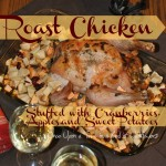 What's for dinner tonight? Try this simple roast chicken stuffed with cranberries, apples, and sweet potatoes! Via Once Upon a Time in a Bed of Wildflowers