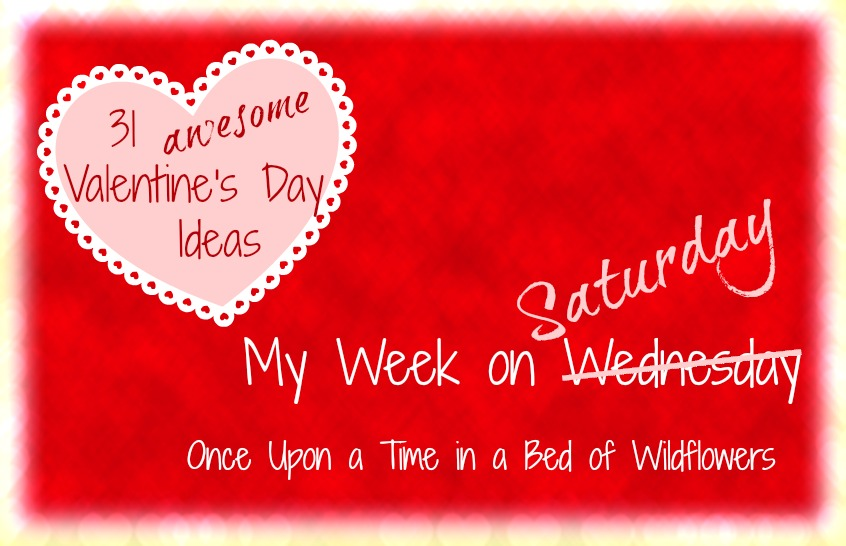 My Week on Wednesday and Valentine's Day Ideas // Once Upon a Time in a Bed of Wildflowers