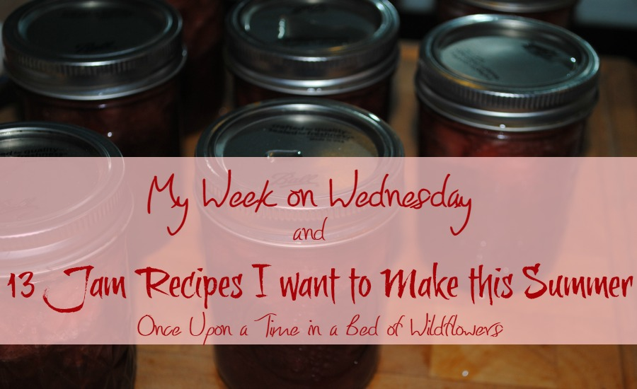 My Week on Wednesday and 13 Jam Recipes I want to Make this Summer // Once Upon a Time in a Bed of Wildflowers
