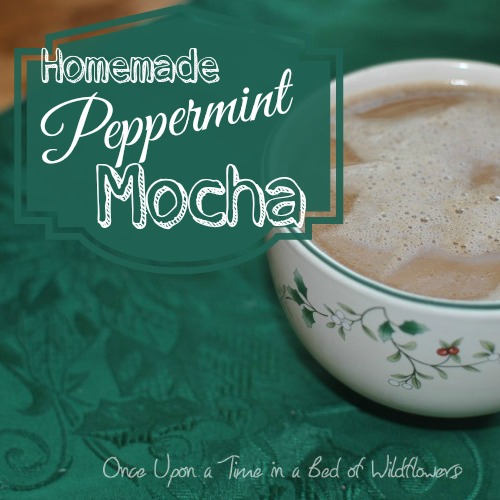 Homemade Peppermint Mocha // Once Upon a Time in a Bed of Wildflowers