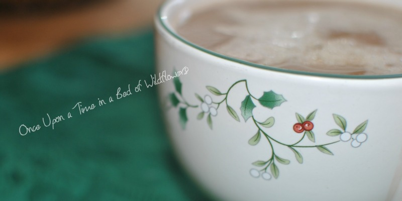 Homemade Peppermint Mocha via Once Upon a Time in a Bed of Wildflowers
