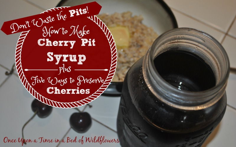 What if you didn't have to throw away all your cherry pits? What if you could turn them into a delicious syrup that is perfect over oatmeal, stirred into milk, or even in whiskey?