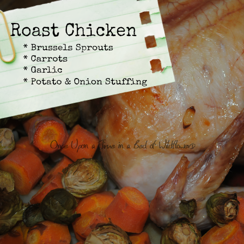 Looking for a delicious one-dish meal full of vegetables and a roast chicken besides? Try this Roast Chicken with Brussels Sprouts! It's stuffed with potatoes, too, so it's gluten-free! Via Once Upon a Time in a Bed of Wildflowers